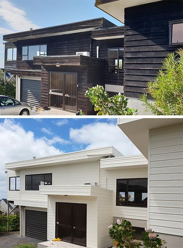 House cladding repairs and painting