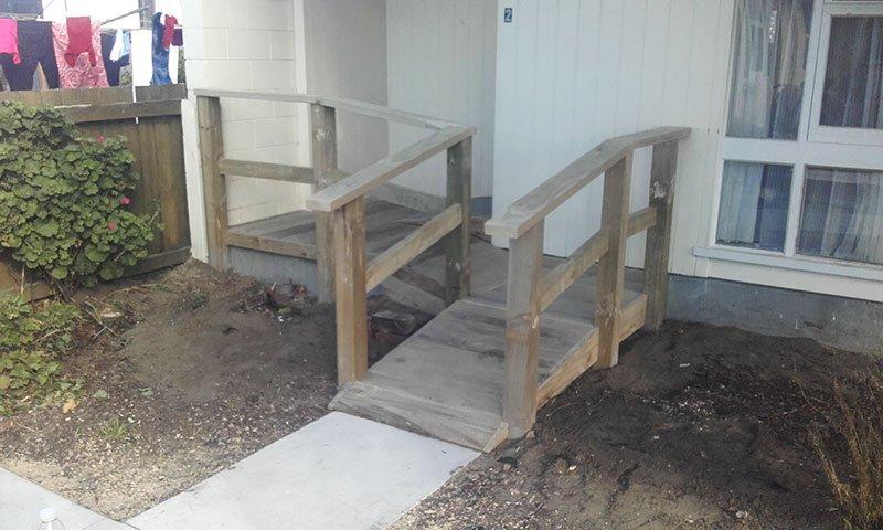 Timber access ramp