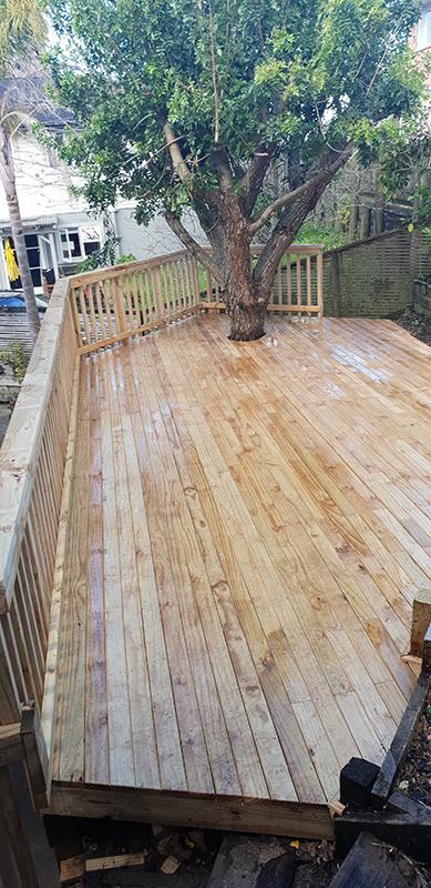 New pine deck